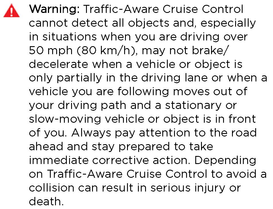 Tesla warning manual
