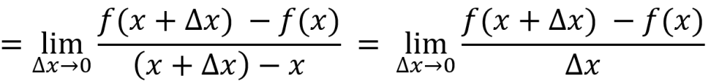 Derivation formula